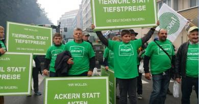 Die Sonderkonferenz wurde von friedlichen Protesten europäischer Landwirte begleitet. Foto: DBV