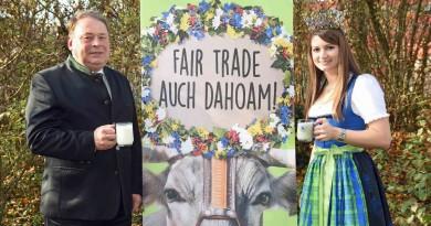 Bayerischer Landwirtschaftsminister Helmut Brunner und Milchkönigin Susanne Polz. Foto: Baumgart/StMELF